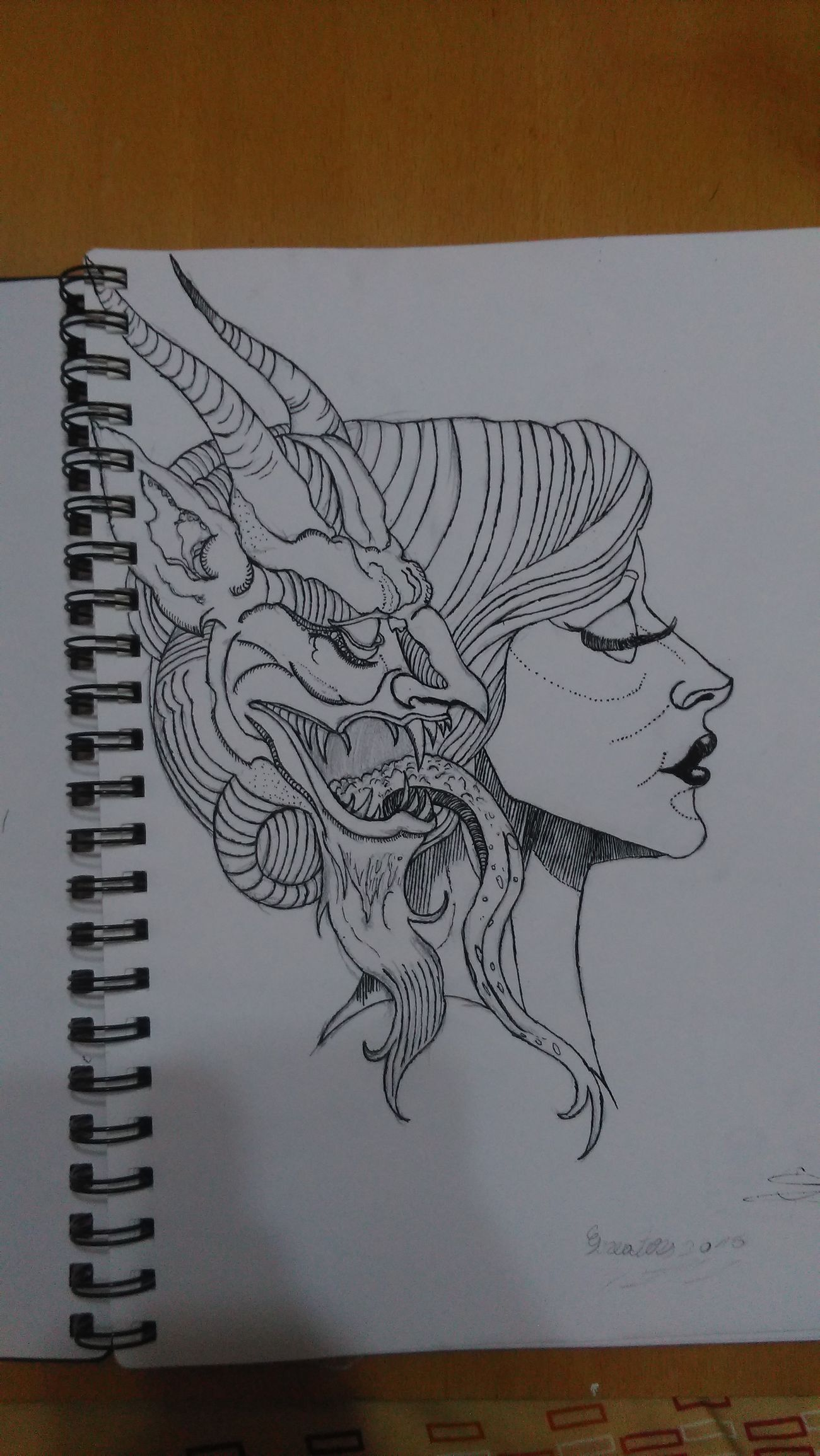 Devil Women Art Drawing Creativity Drawingwork Creativity Drawing - Art Product Art, Drawing, Creativity ArtWork Hand Drawing Composition Paper