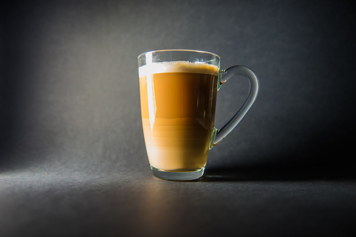 Coffee Latte Light From Left Hot Drink Drinks Glass Relaxing Cafe