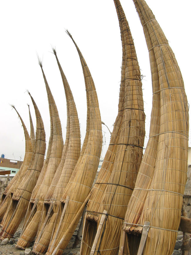 Traditional Totora Reed Boats of Peru Ancient Boats Bolivia Caballitos Canoe Craft Culture Fishing In A Row Indigenous  Lake Titicaca Latin Nautical Peru Reed Totora Tradition Traditional Transportation Vessel