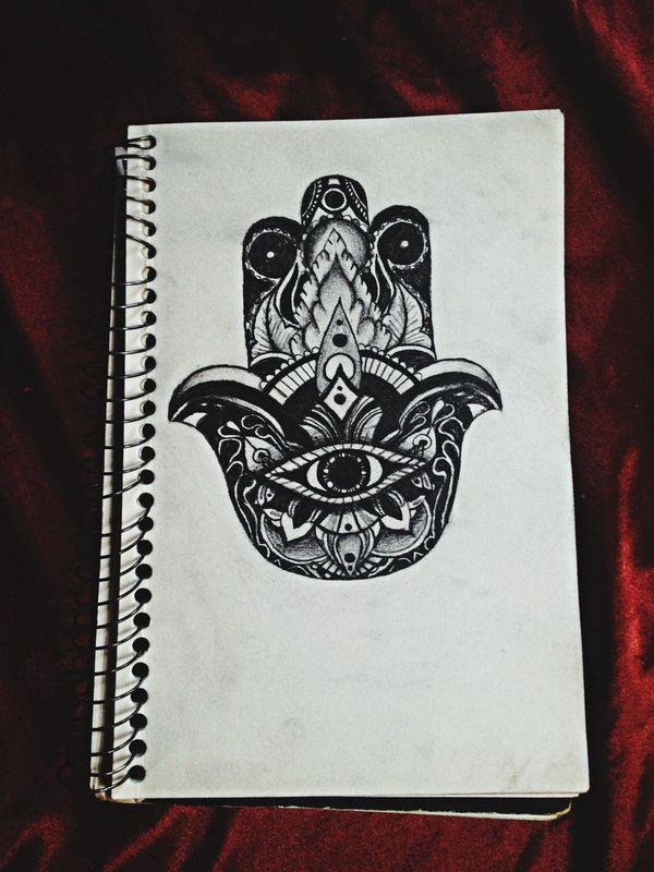 Serial Doodler Hamsa Drawing Art Practicing drawing Hamsas