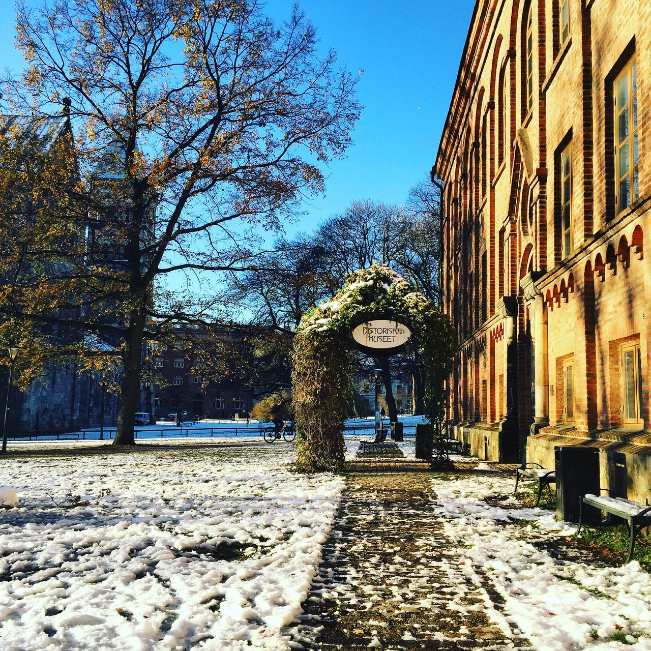 Snow in Lund Sweden Wintertime Cold Days Travel Photography University Check This Out Hello World Relaxing Taking Photos Sun Lundsdomkyrka