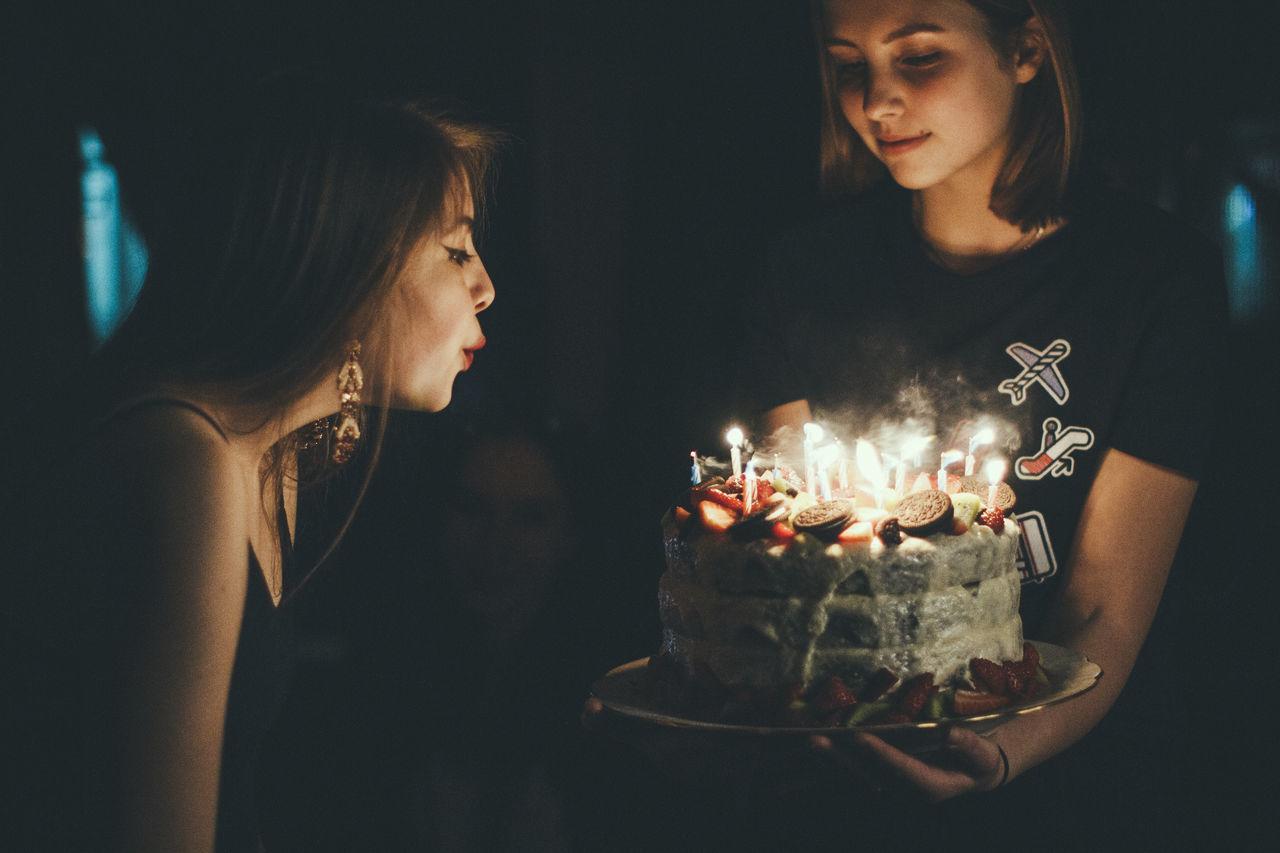 Beautiful stock photos of geburtstagskuchen, flame, candle, celebration, couple - relationship
