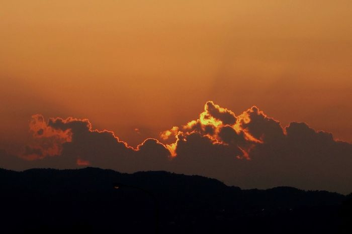 Beauty In Nature Nature Sunset Scenics Silhouette Tranquility Sky No People Mountain Outdoors Power In Nature Night Nagano Japan Summer