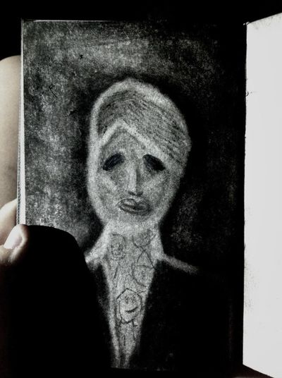 My first crack at drawing strictly with charcoal. Charcoal Drawing Not Good Not Bad