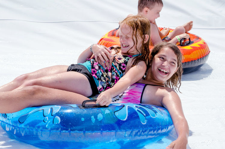 aUG 5, 2017 bUCHHANNAN mi usa; Active kids have fun in the sun during the Thrill on the hill event that takes place every summer on the main street of this small Michigan town. wild wet fun! Children Event Happy Kids Messy Michigan Sliding Summertime USA Water Slide Bathing Suits Childhood Day Editorial  Fun Man Made Object Rafts Shorts Summer Thrill On The Hill Water Wet