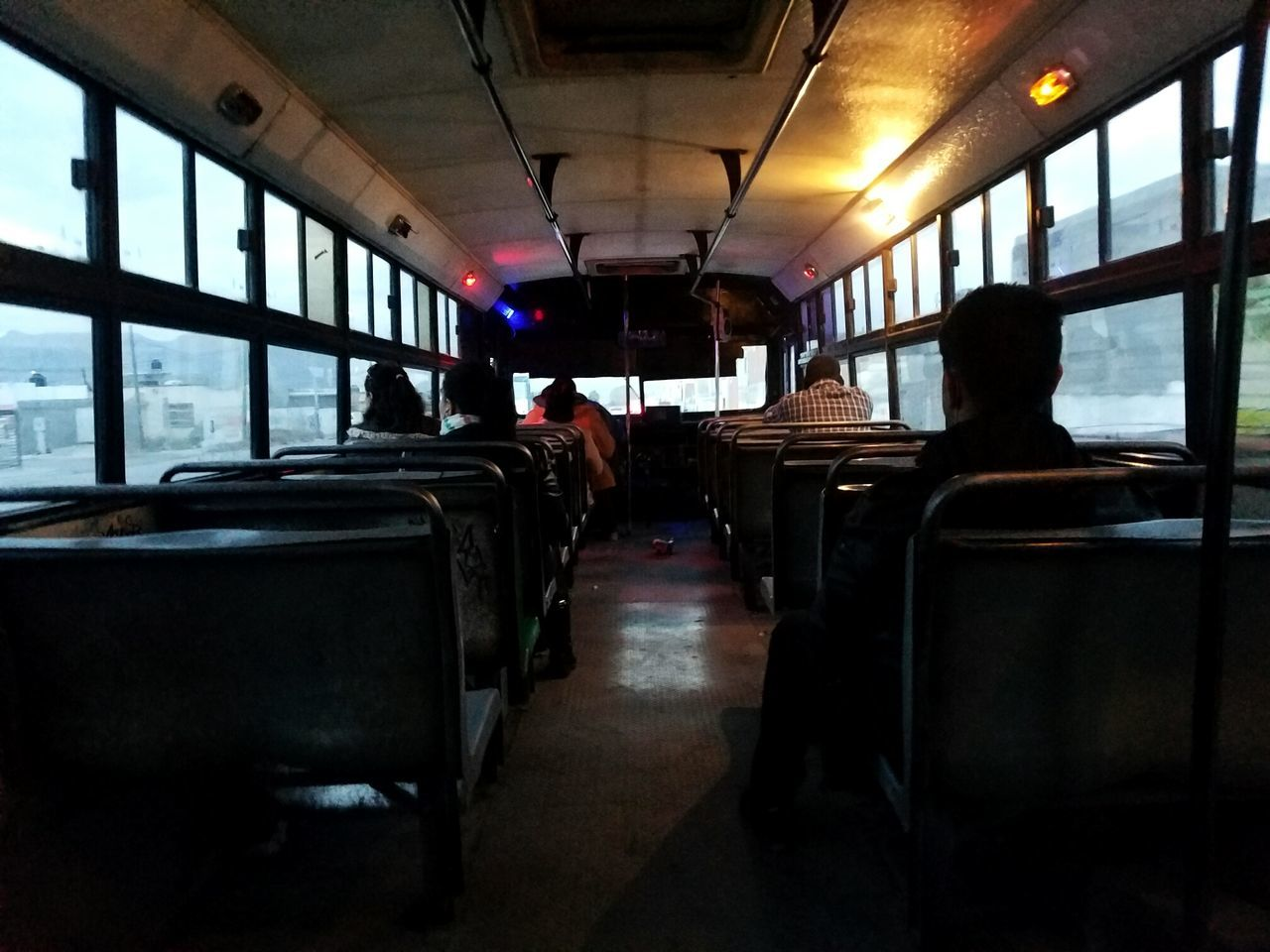 Traveling Home For The Holidays Transportation Bus City Bus Grey Weather Travel