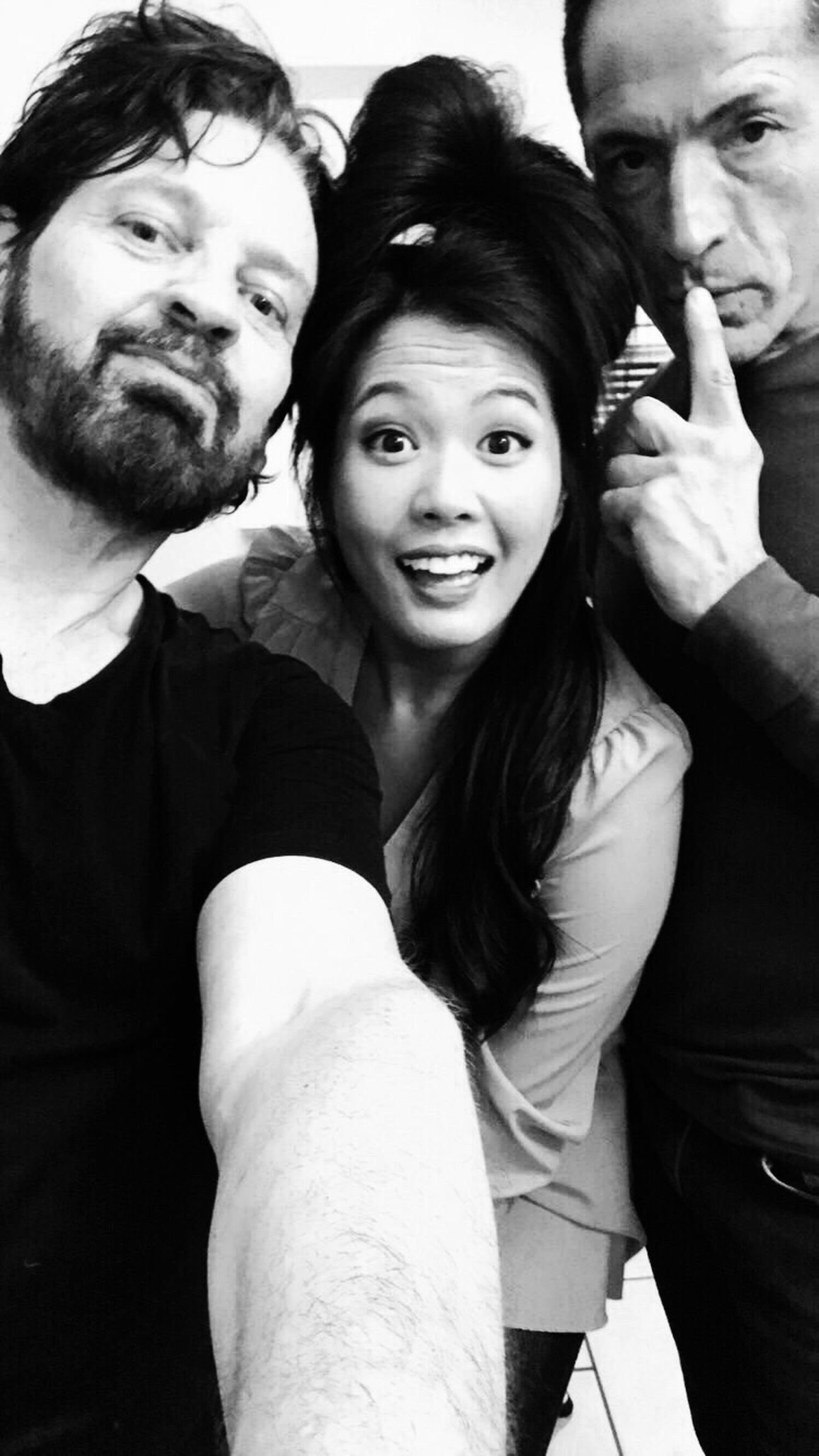 Rare to be in front of the camera, but I quite love this pic taken with Randa's iPhone after our proper shoot. L-R me, Randa, Jorge. So much fun we all had together! ThatsMe
