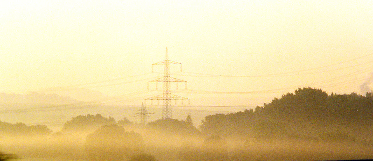 Am Rande der Autobahn Traffic Autobahn Beauty In Nature Cable Day Electricity  Electricity Pylon Field Fog Foggy Foggy Landscape Foggy Morning Fuel And Power Generation Hazy  Highway Landscape Nature No People Outdoors Power Line  Scenics Sky Technology Tranquility Tree