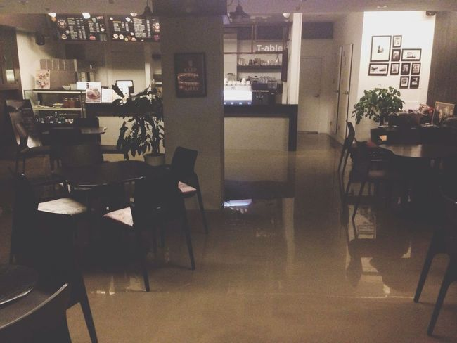 Just Finished Work @ My Cafe T-able