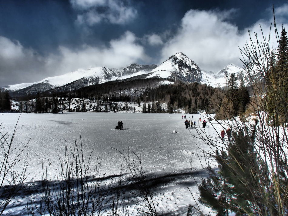 Beauty In Nature Cold Temperature Mountain Nature Outdoors Scenics Snow Weather Winter Strbske Pleso