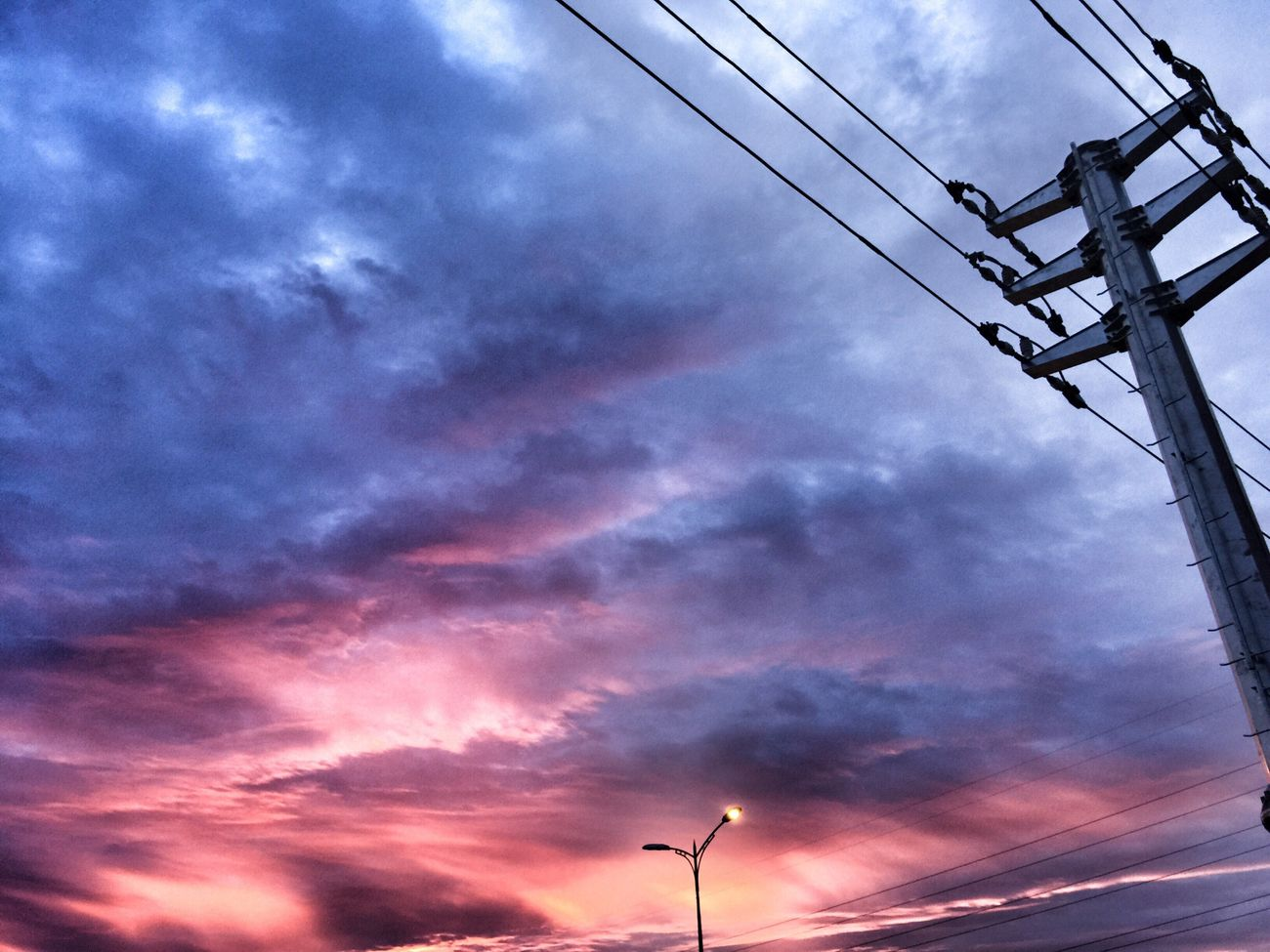 Cloud - Sky Electricity  Sunset Outdoors Nature Sky First Eyeem Photo Check This Out My Year My View Hanging Out Colorful