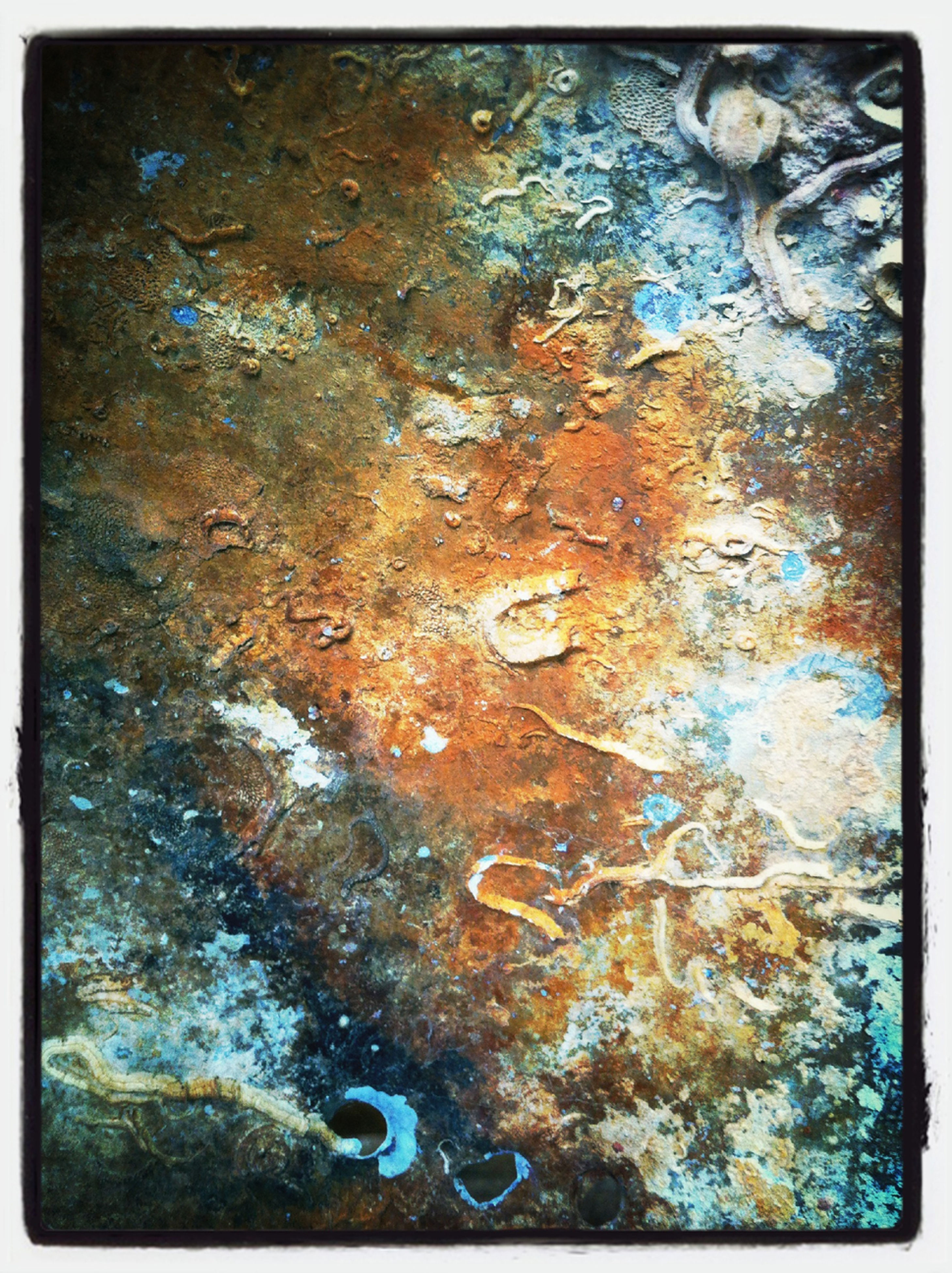 full frame, transfer print, backgrounds, textured, weathered, close-up, auto post production filter, old, rough, deterioration, rusty, damaged, run-down, peeling off, detail, abandoned, pattern, wall - building feature, obsolete, no people