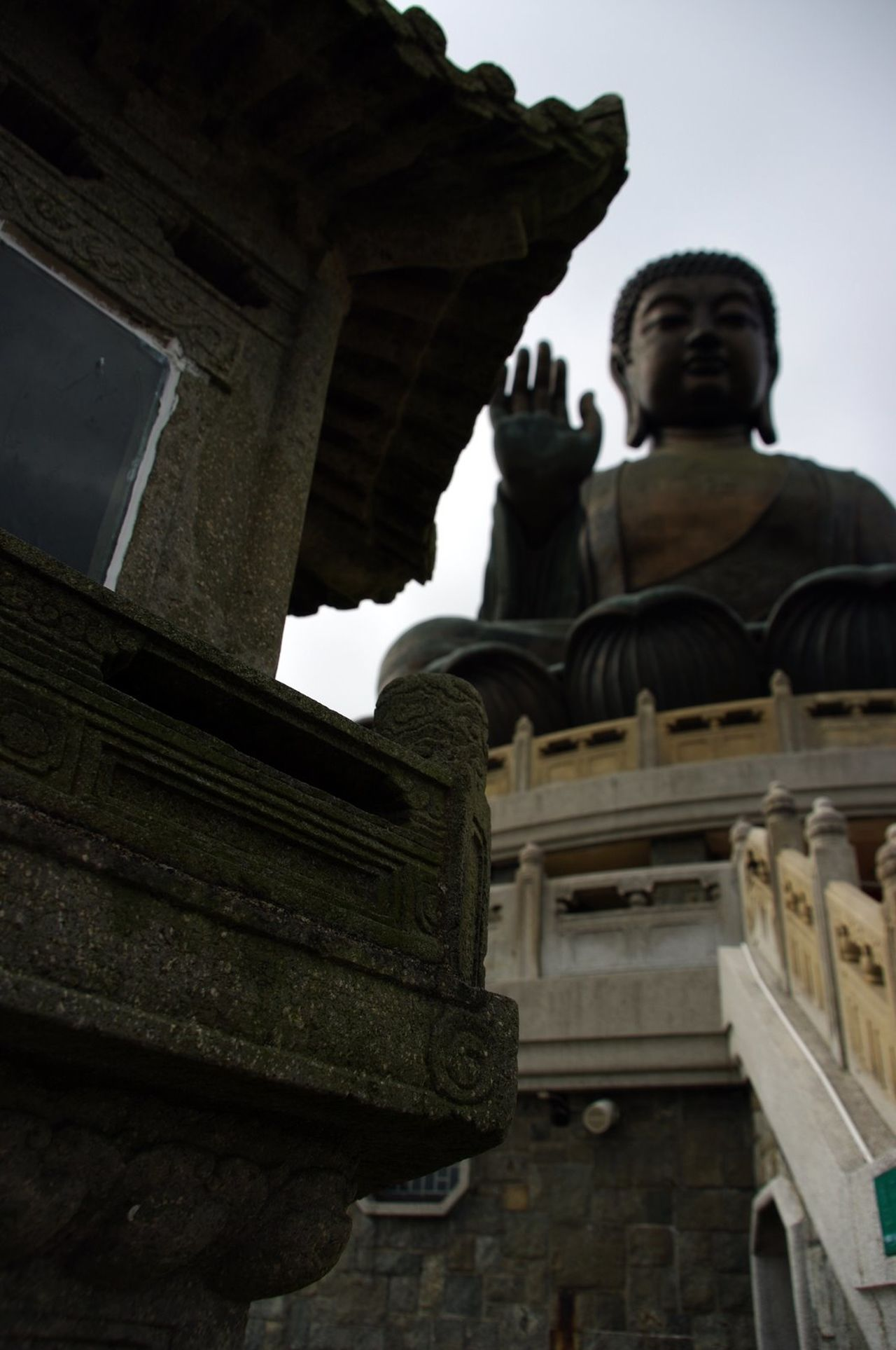 HK memories, 2009 Arched Architecture Art And Craft Built Structure Creativity Famous Place History Human Representation Low Angle View No People Old Town Place Of Worship Sculpture Sky Statue Temple Temple - Building Tian Tan Buddha (Giant Buddha) 天壇大佛 Lantau Island Day Trip