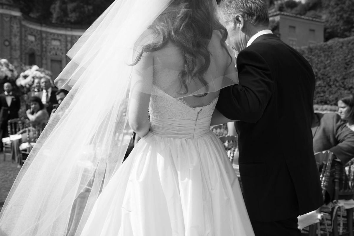 Wedding Father Of The Bride Aisle Wedding Day Black And White Bride Wedding Dress Father Daughter