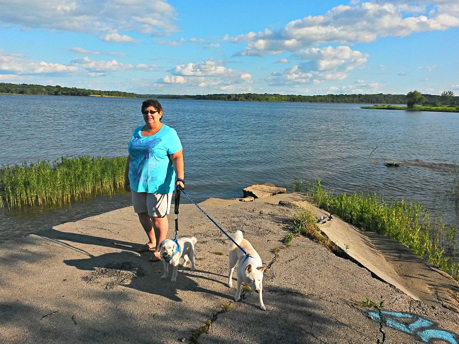My Wife ♡ Mydog Lake Relaxing Enjoying The Sun Hello World Sunshine Check This Out Beautiful Day Longview Lake