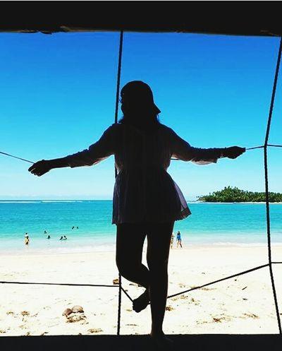 Feeling blah Beach Sea Sand Standing