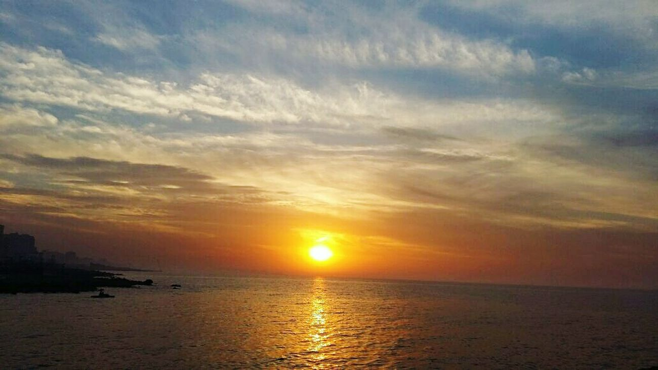 Passion Sunset Nofilterneeded Alexandria Egypt Sky Sun Clouds Beauty Sea Mediterranean  Autumn Catch The Moment