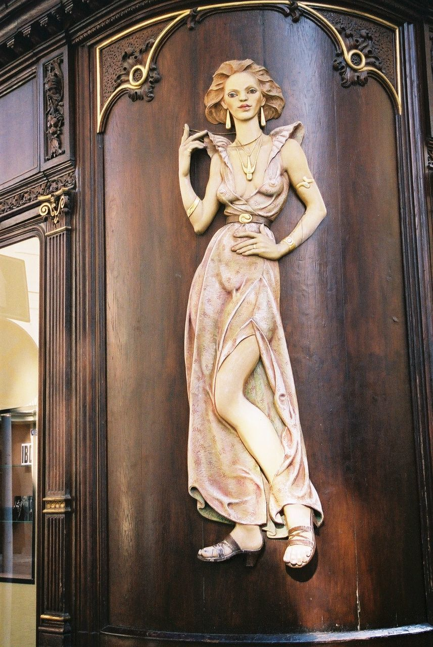 female likeness, human representation, statue, sculpture, indoors, day, architecture, no people, built structure, close-up