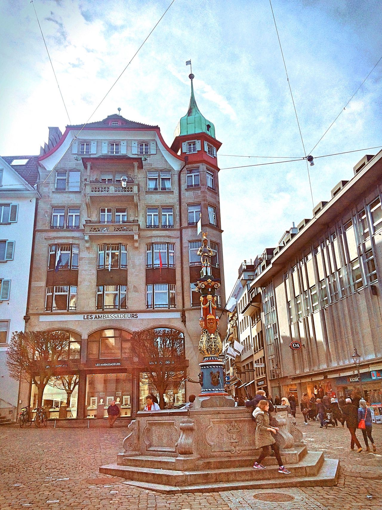 Luzern Switzerland Building Exterior Architecture Built Structure Sky Travel Destinations Outdoors City Day Real People
