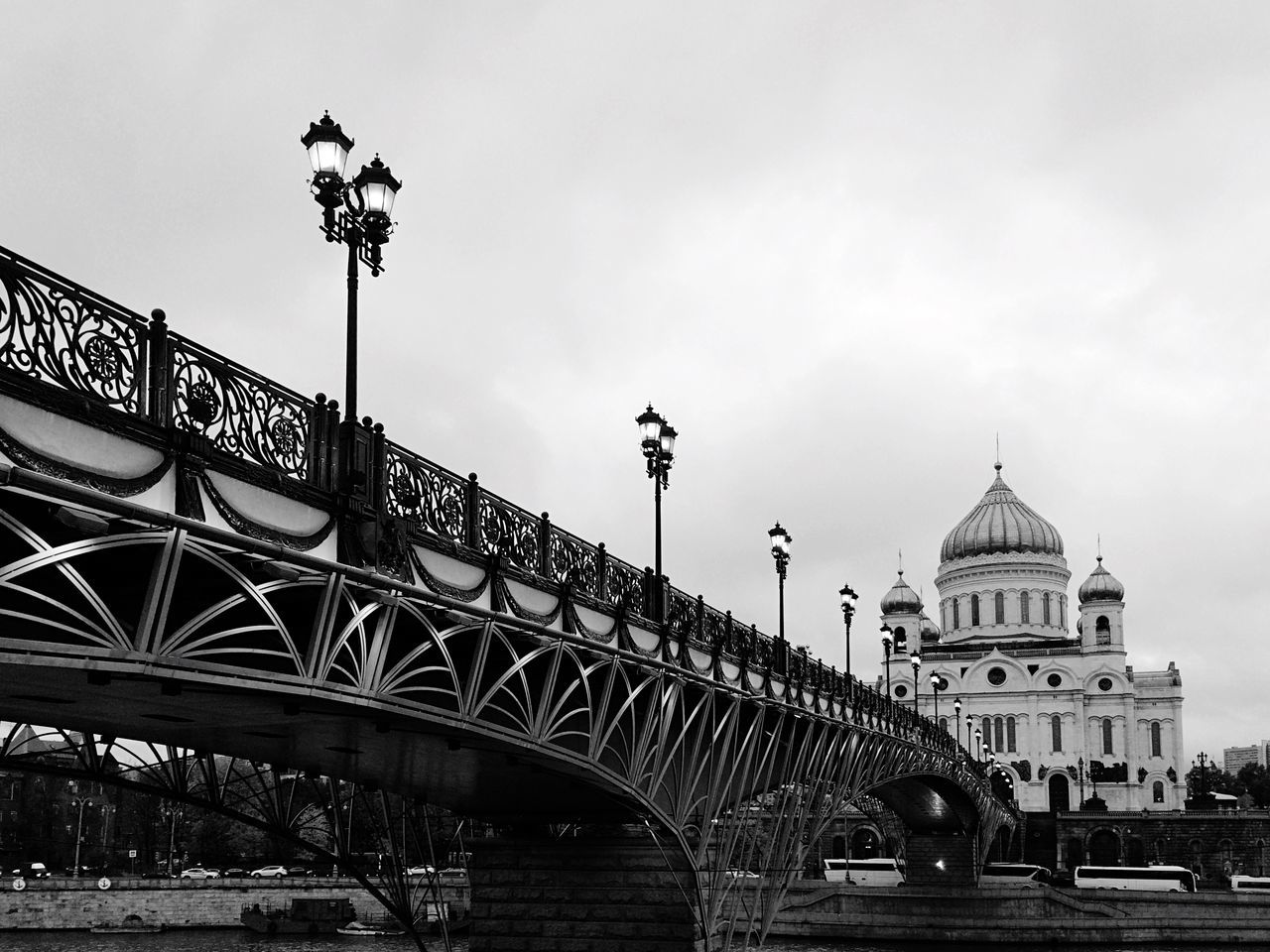 Monochrome Photography Cathedral Cathedral Of Christ The Savior Architecture Bridge Religious Architecture Overcast