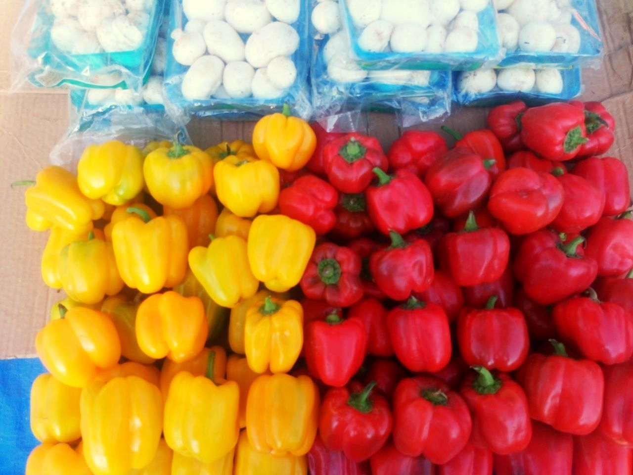 food, food and drink, for sale, freshness, abundance, no people, market, retail, red, healthy eating, large group of objects, choice, stack, yellow, day, close-up, outdoors