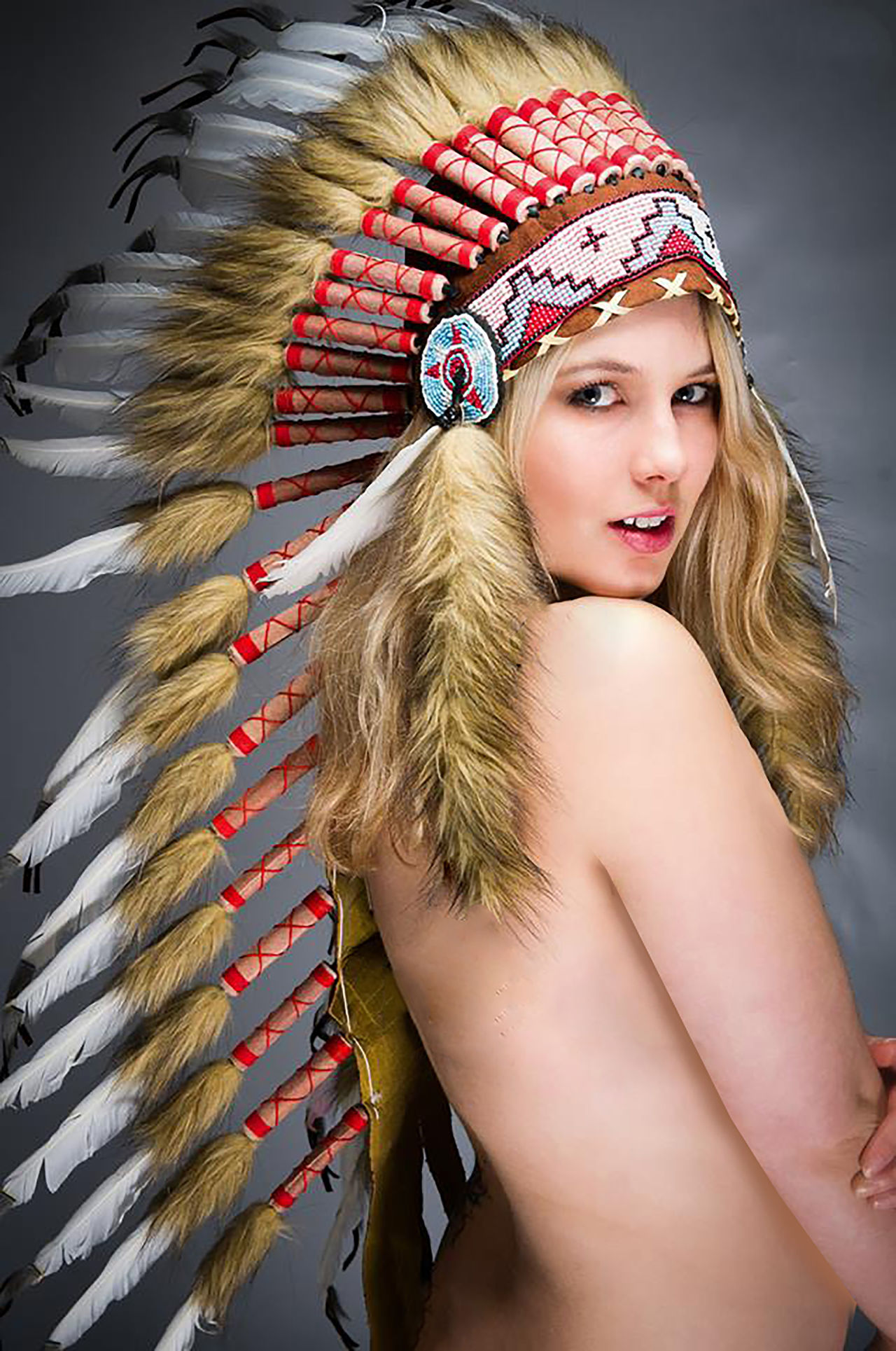 Adult Adults Only Arts Culture And Entertainment Beautiful People Beautiful Woman Beauty Blond Hair Close-up Day Fashion Fashion Model Headdress Indoors  One Person One Woman Only One Young Woman Only Only Women People Portrait Smiling Warm Clothing Young Adult Young Women