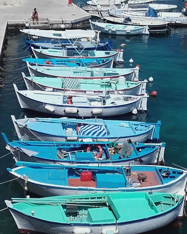 Port Tricase Italie Port Tricase Barques Pouilles Italie Small Boats Harbor Colour Of Life Italy