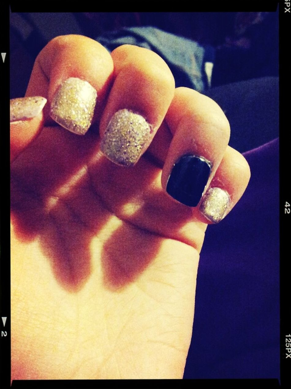 When i'm bored Nails Big Money Outer Space Black Lacey Lilac Gold Glitter