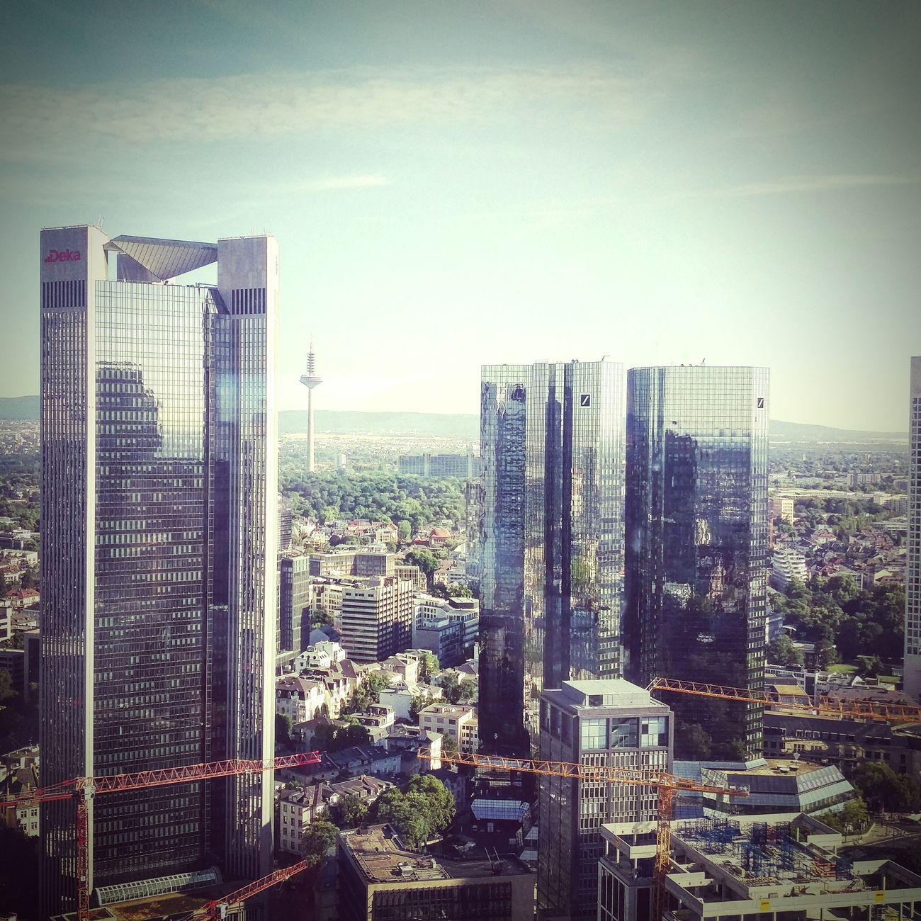 Skyline Frankfurt Am Main Silberturm Enjoying The View