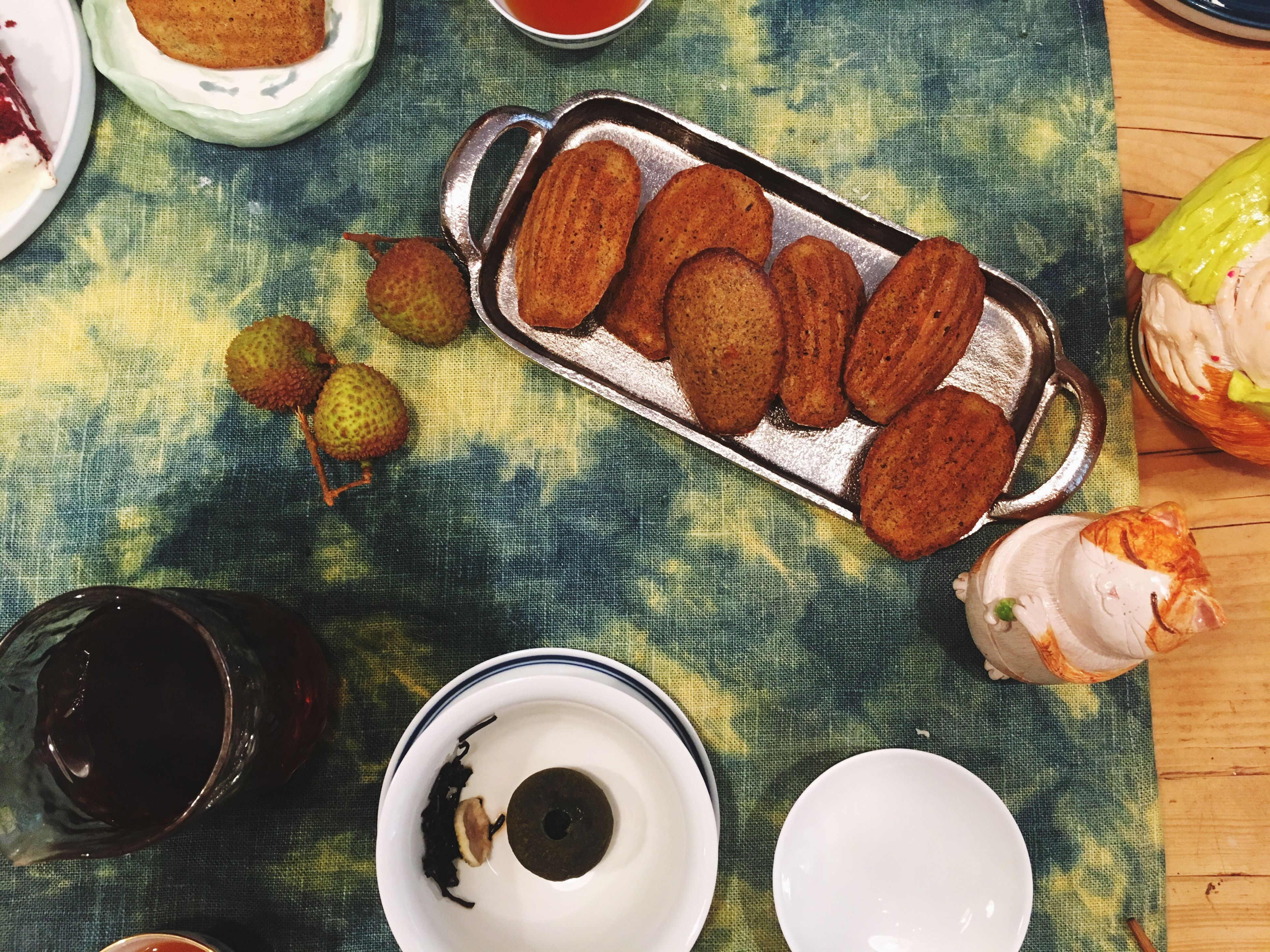 table, food and drink, indoors, food, freshness, no people, refreshment, high angle view, drink, plate, bowl, directly above, serving size, ready-to-eat, drinking glass, healthy eating, close-up, sweet food, day