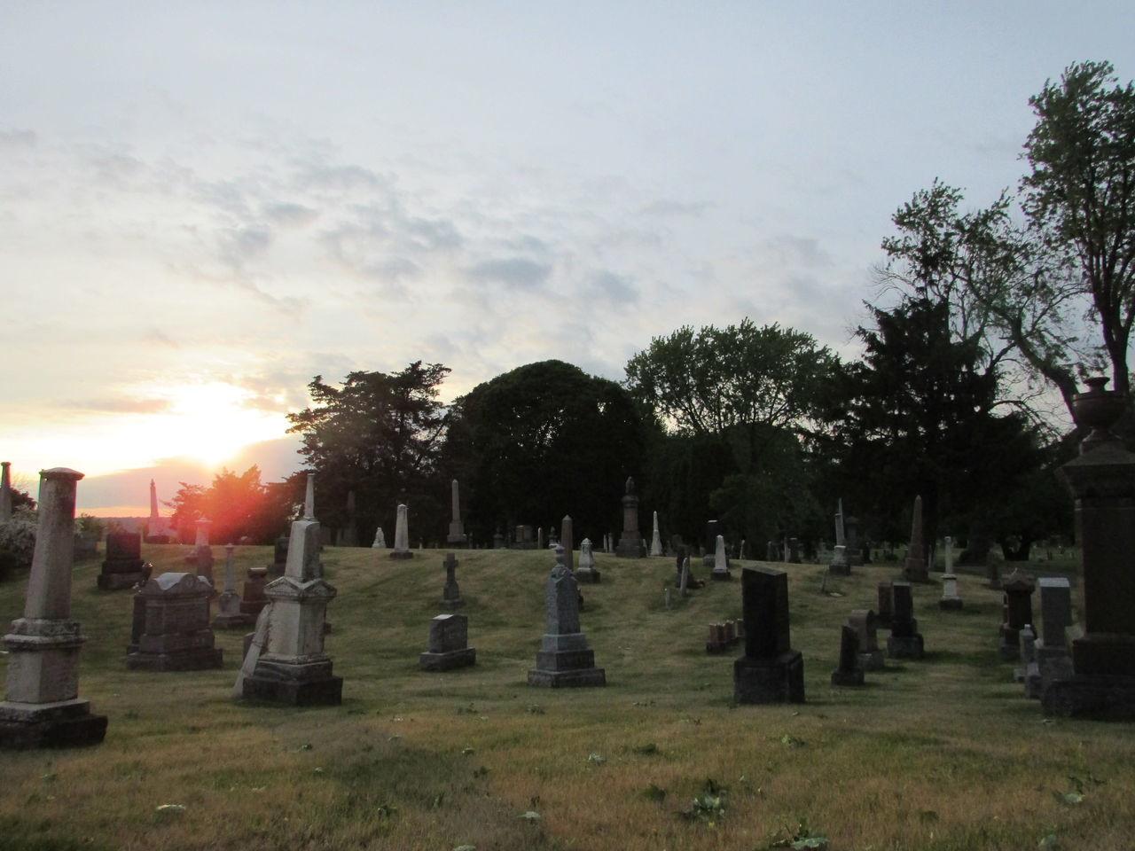 Cemetary Cemetary Beauty Gravestones Graveyard Graveyard Beauty Headstones Mausoleum No People Old Cemetery Old Graveyard Outdoors Sunset