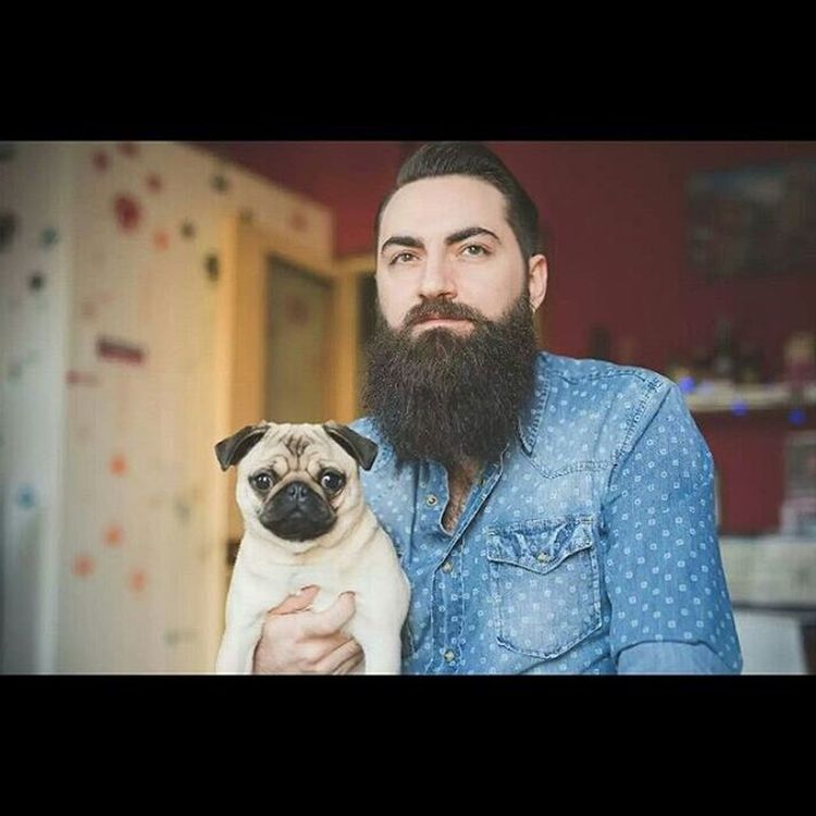 • www.eugeniomarongiu.it • Super great bearded man Alain and his beautiful little dog Maria Clara Beard Bearded Beardyland  Beardculture Beardgang Beards Lifestyle Love Carlino Friends Shooting Photography