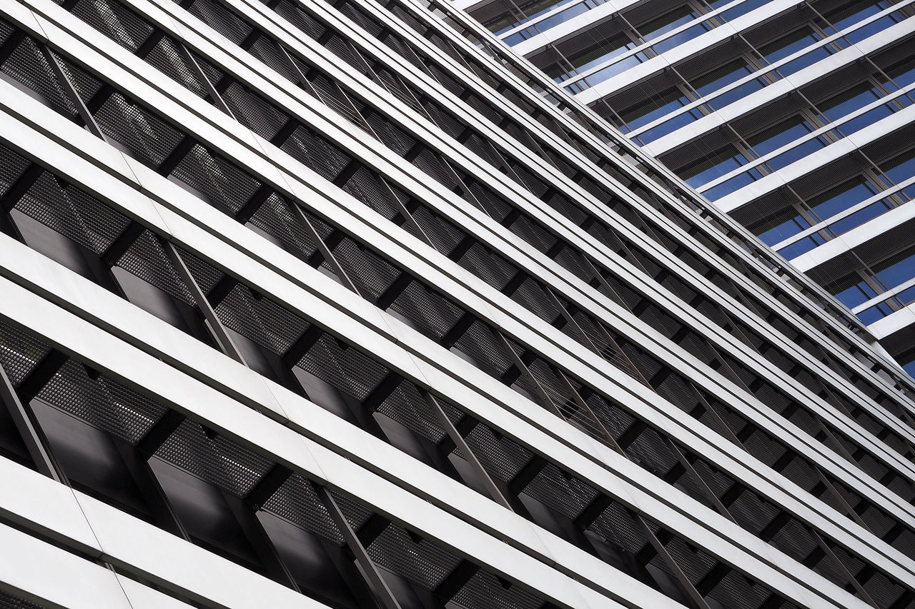 Abstract Architecture Built Structure Façade Lines Low Angle View Modern Architecture Pattern