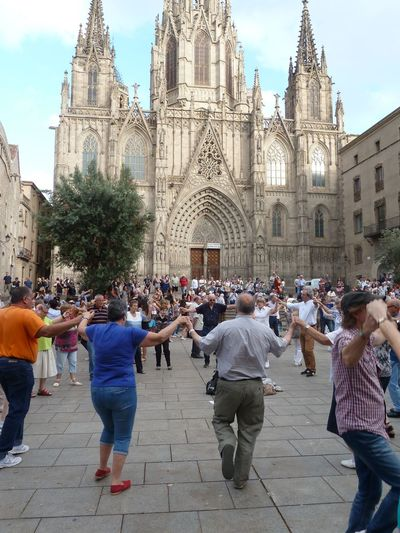 Barcelona Cathedral Barcelona, Spain Catalonia City Life Dancing National Park Neighborhood Map People People Watching Public Square Sardana Street Photography