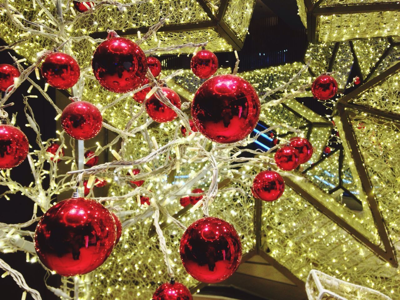 Christmas ball Balls Light Red Christmas Christmas Bauble Christmas Decoration Rama 1 Tree Yellow Lighting Bangkok Ratchaprasong Intersection Evening Light Decorations