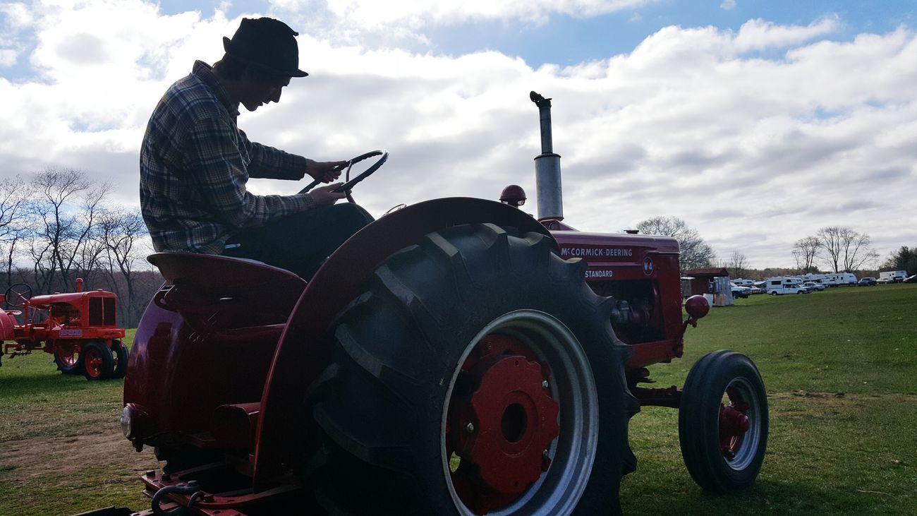 Farmer Farming Tractor International Harvester