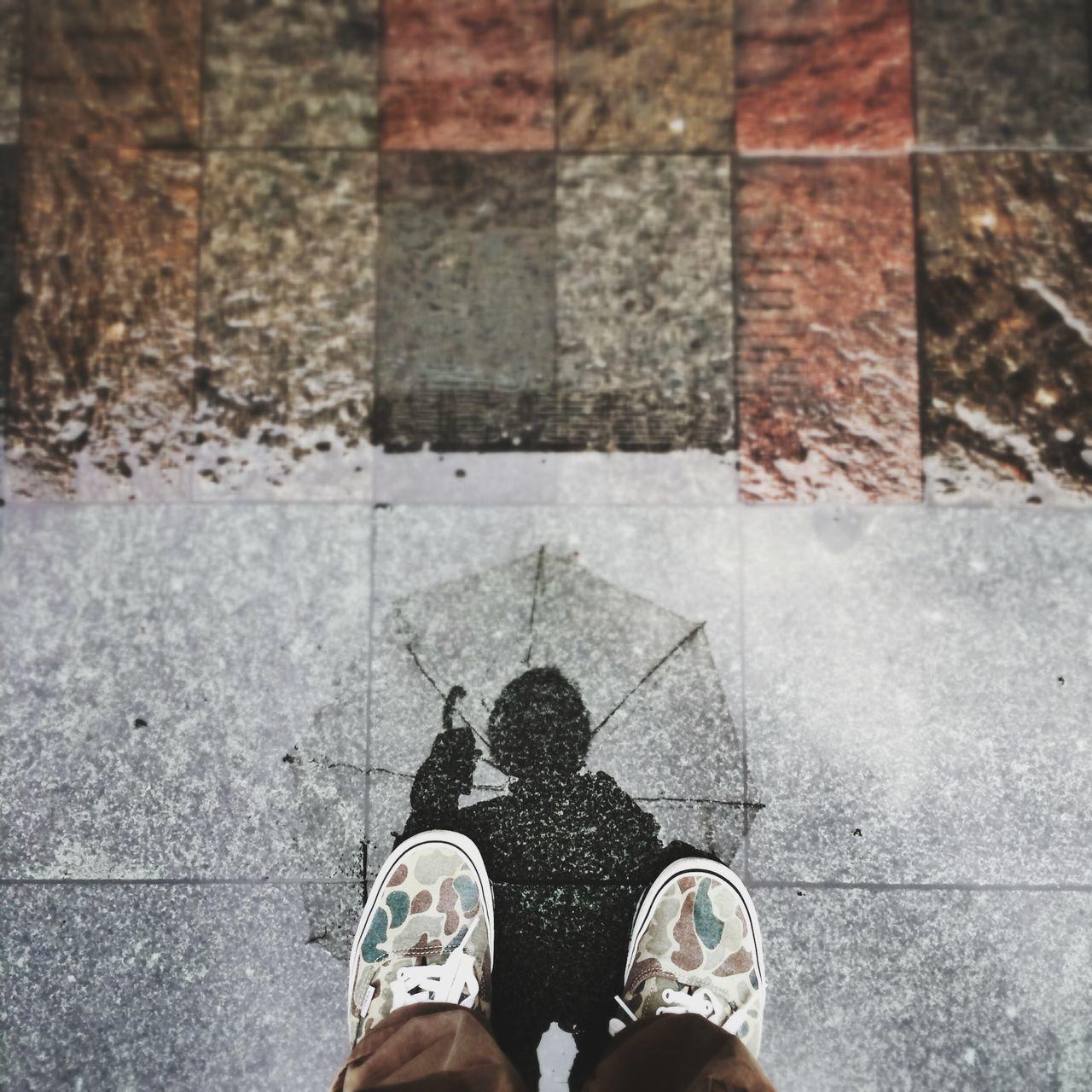 Beautiful stock photos of umbrella, Close-Up, Footwear, Human Leg, Low Section