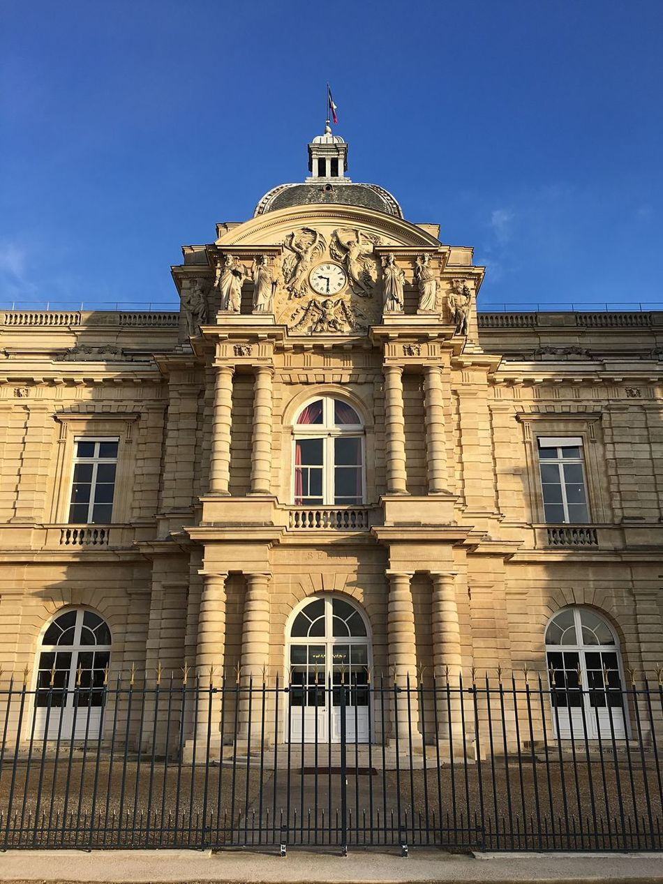 Building Exterior Architecture Built Structure Low Angle View Window Outdoors Façade No People History Sky City Day Sculpture Jardin Du Luxembourg Architectural Detail
