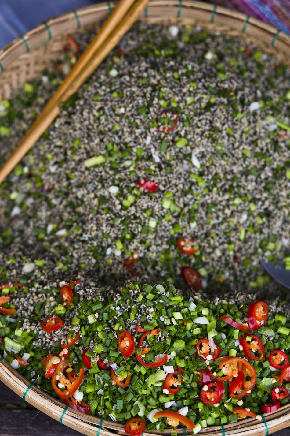Close up texture of seasoning for Vietnamese dish Freshness Close-up Food Healthy Eating Seasoning Spicies Spice Pepper Chilies Spicy Food Spicy Market Vietnamese
