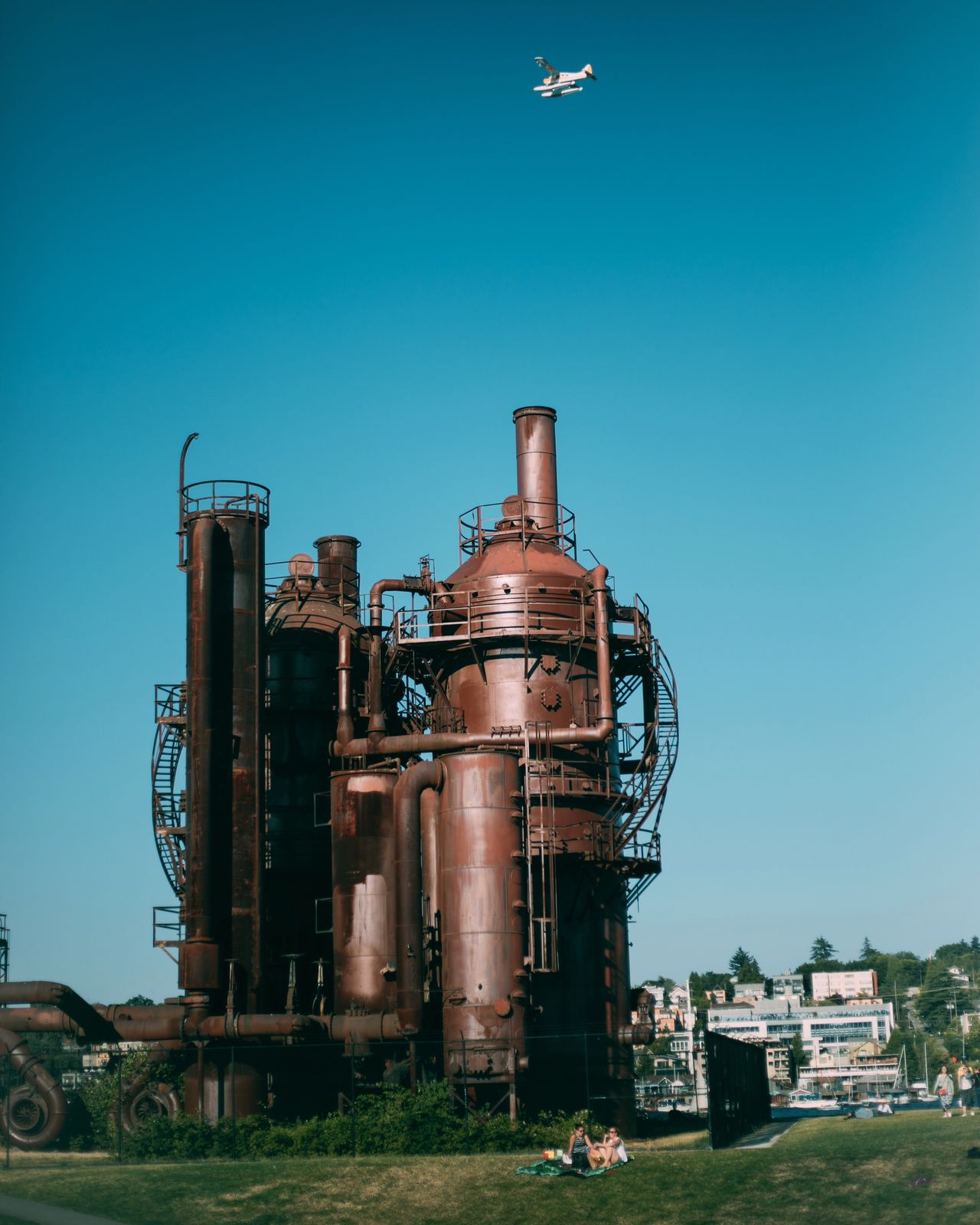 Clear sky factory blue Industry built structure day Architecture no people outdoors sky building exterior Seattle