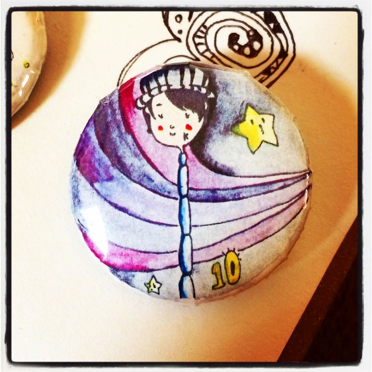Hand Drawing Design Picture Art 缶バッジ Button Badges