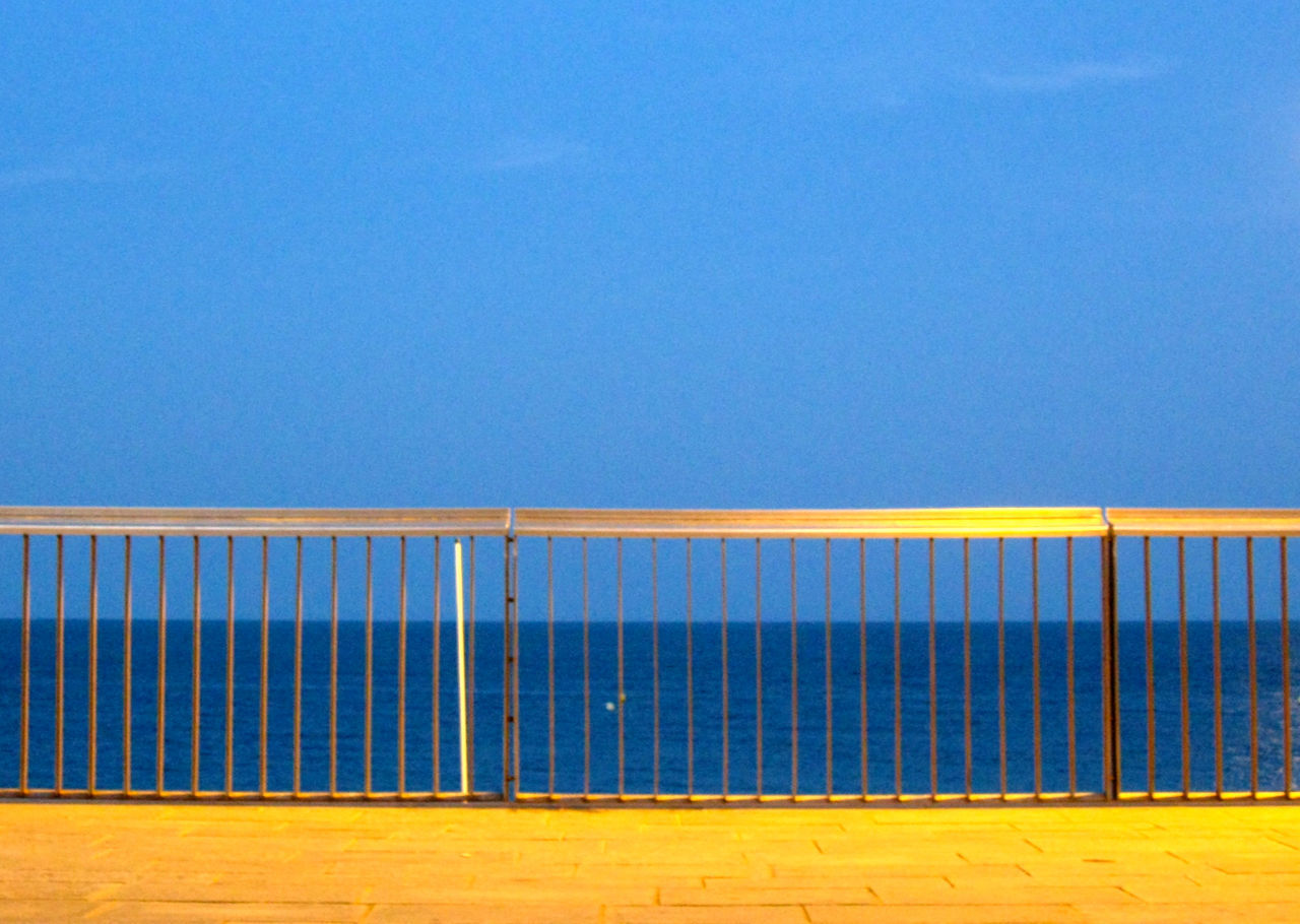 Fence At A Ocean Walkway