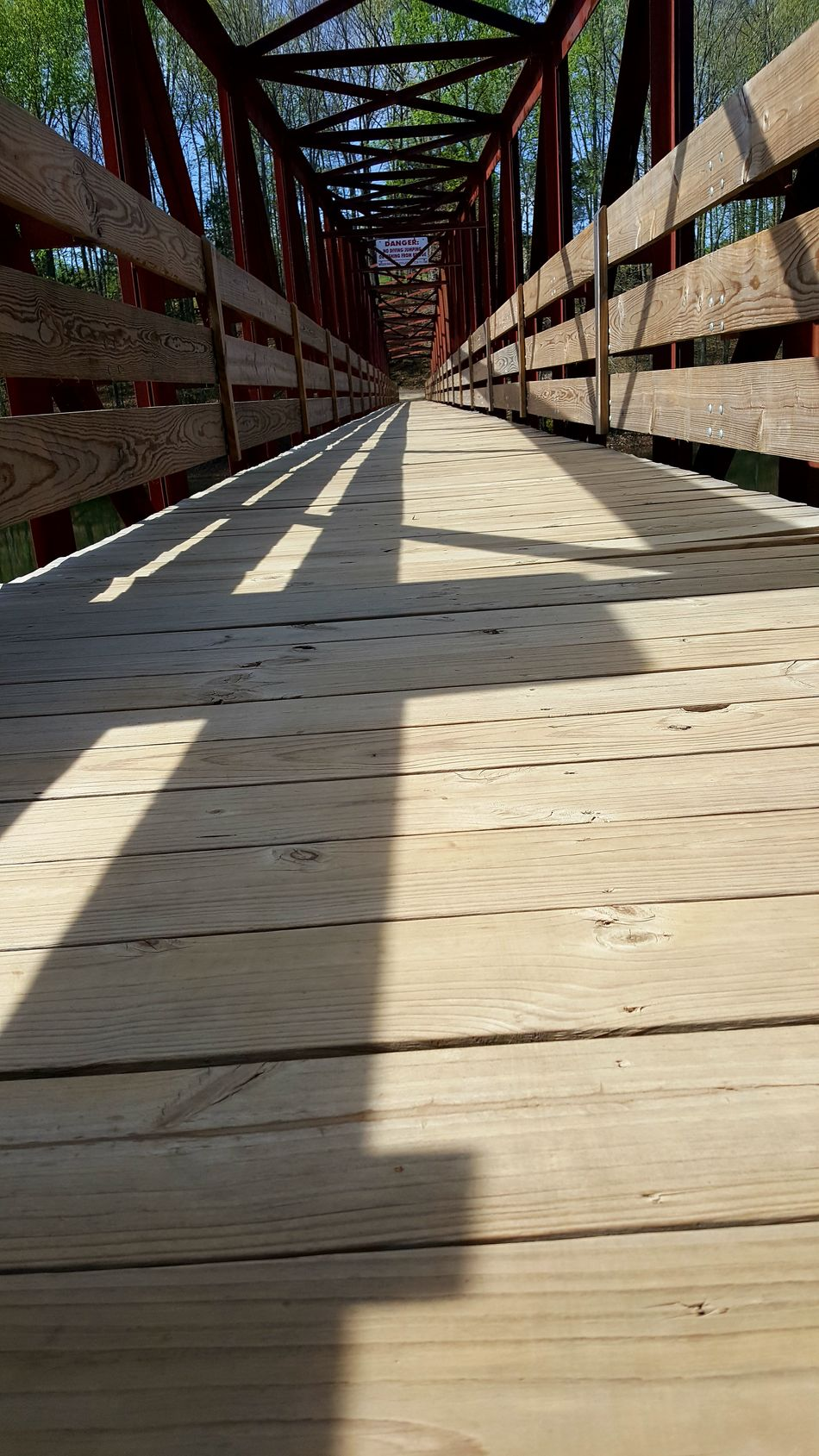Perspective of the bridge crossing the Lake at Tims Ford State Park Tennessee Angles Architecture Bridge Bridge - Man Made Structure Bridges Built Structure Day Indoors  No People Perspective Perspective Photography Perspectives Shadow Sunlight Sunny Wood - Material Wood Paneling Wooden