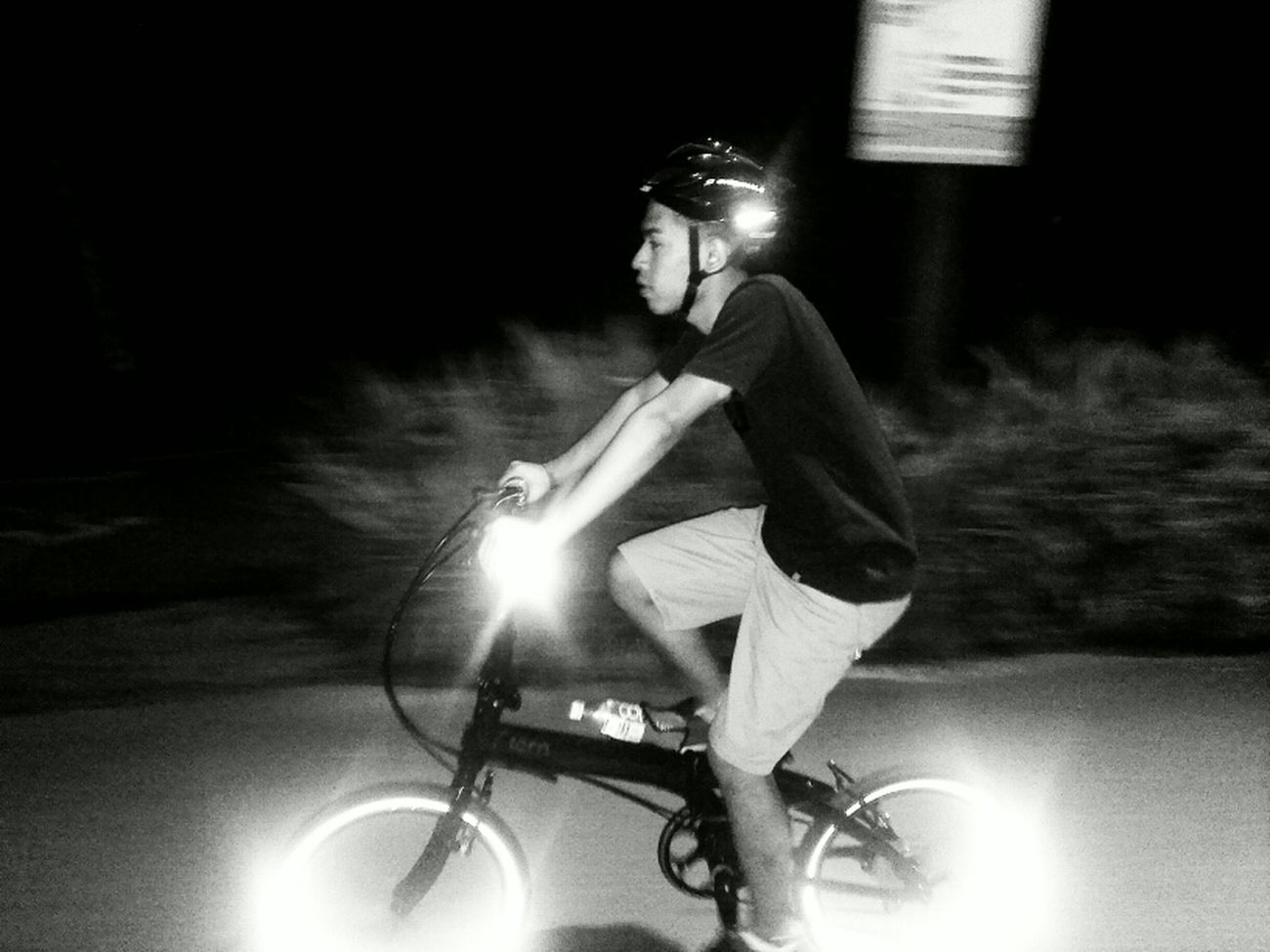 TRON bicycle. Blackandwhite