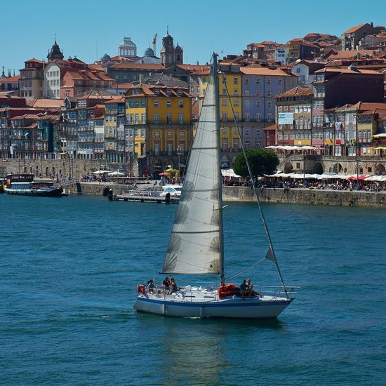 Boat on the Douro river, Porto, Portugal. Travel Traveling