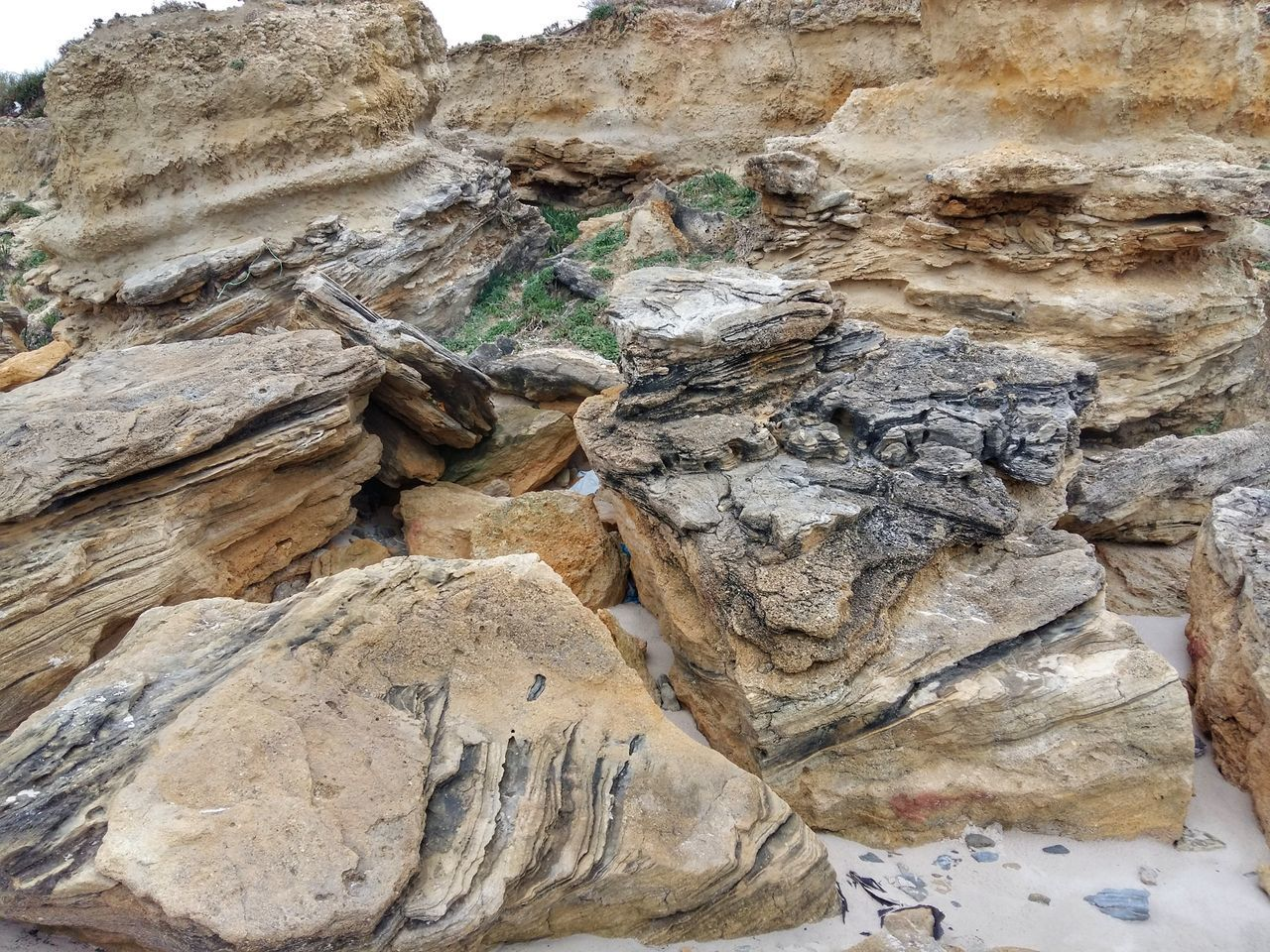 rock - object, rock formation, day, textured, nature, no people, physical geography, outdoors, close-up