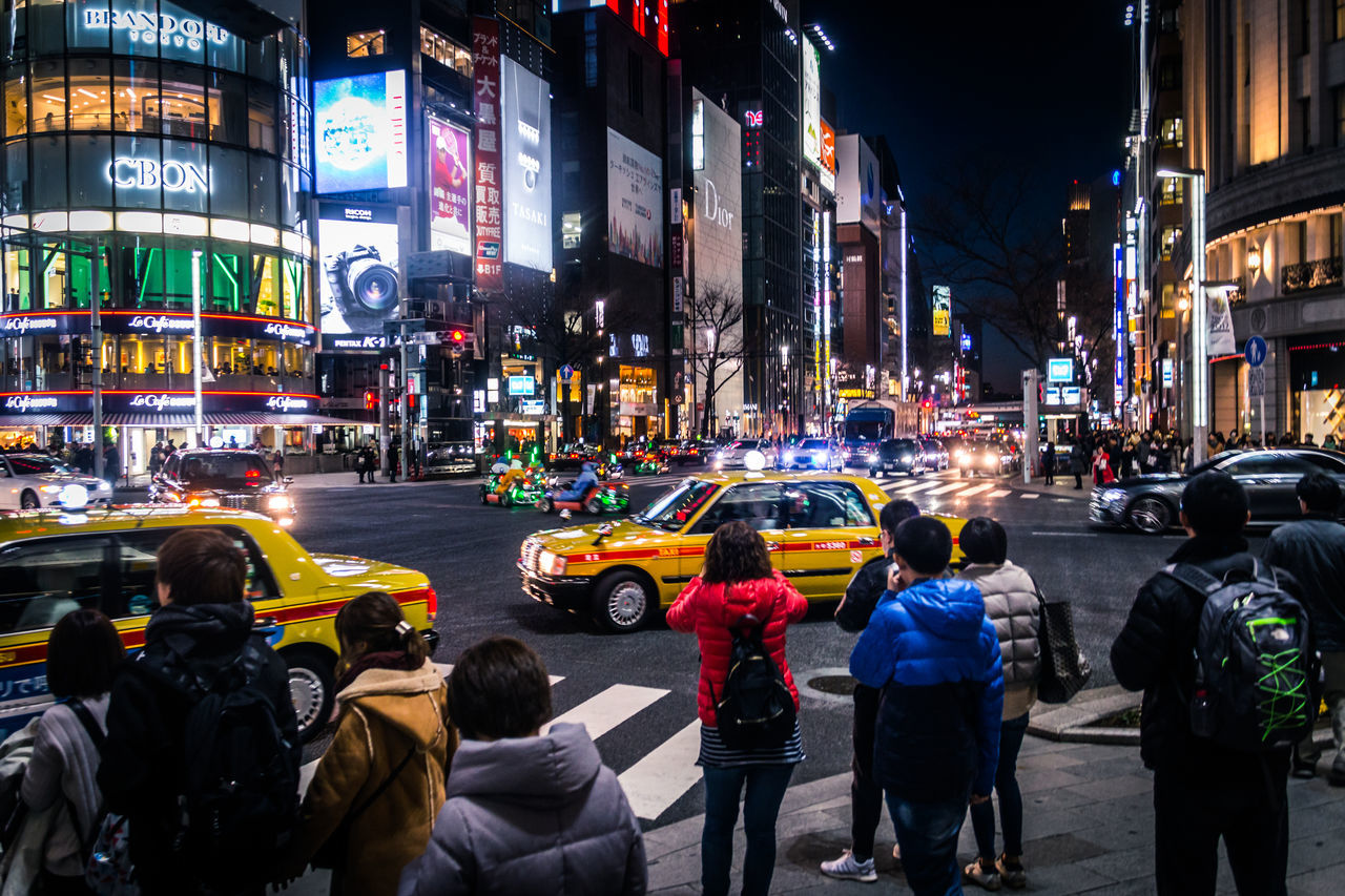 Drastic Edit Japan Lovers Capture The Moment Lifestyles The Tourist City Life Cityscape EyeEm Best Shots EyeEm Gallery EyeEmBestPics Hello World Japan Multi Colored Night On The Way Outdoors People Street Photography Taxi Traffic Transportation Urban Exploration Winter Colour Of Life Urban