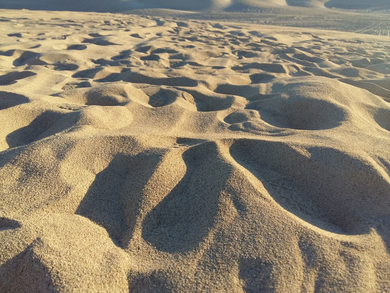 Shadow Of Sand On Beach