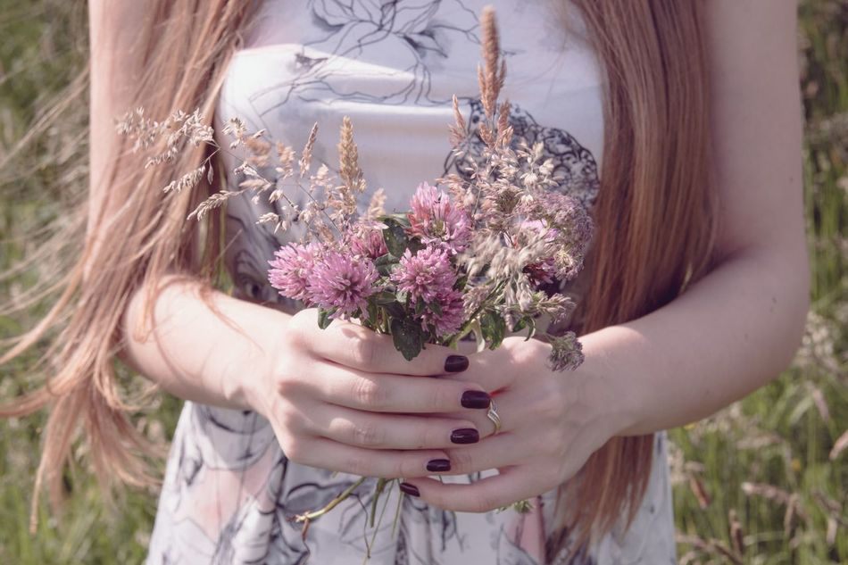 Beautiful stock photos of sommer, Blond Hair, Day, Flower, Girls