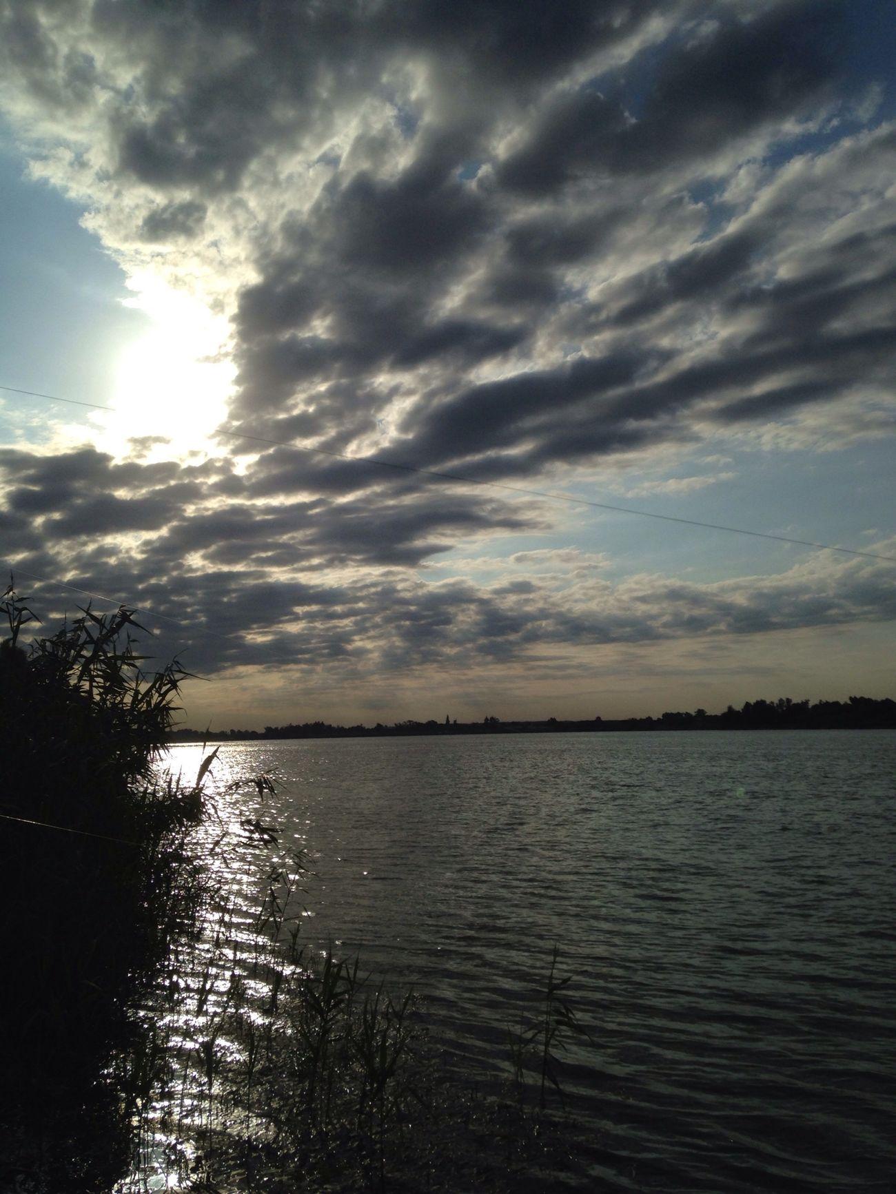 Beautiful Sky Sun River Kuban